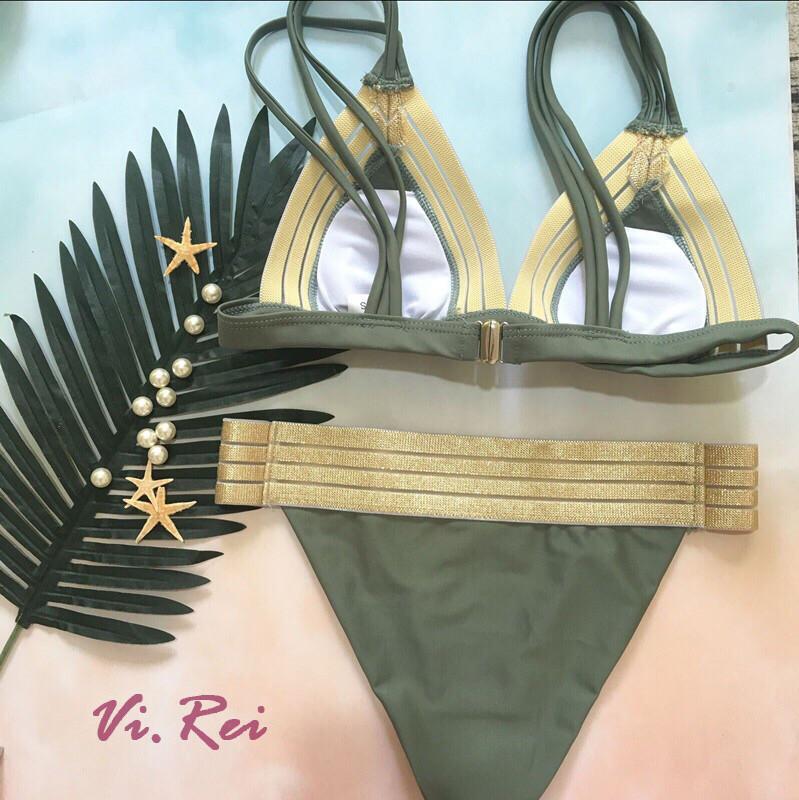 148d0e7e7e667 Раздельные купальники с люрексовыми резинками, в лифе съёмные поролоновые  вставки в двух расцветках: черные ...
