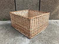 Короб плетеный под овощи и фрукты 30х30 с высотой борта 20 см