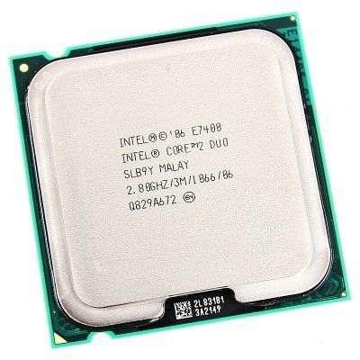 Процессор(775) Intel Core 2 Duo E7400 3 МБ кэш-памяти, тактовая частота 2,80 ГГц