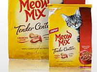Meow Mix Tender Centers Salmon & Chicken корм для котов со вкусом лосося и белого мяса курицы 6,12кг