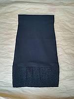 Школьная юбкакарандашдетскаядля девочки 7-11 лет, черного цвета