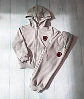 Спортивный костюм детский 2-6 лет, светло-серый