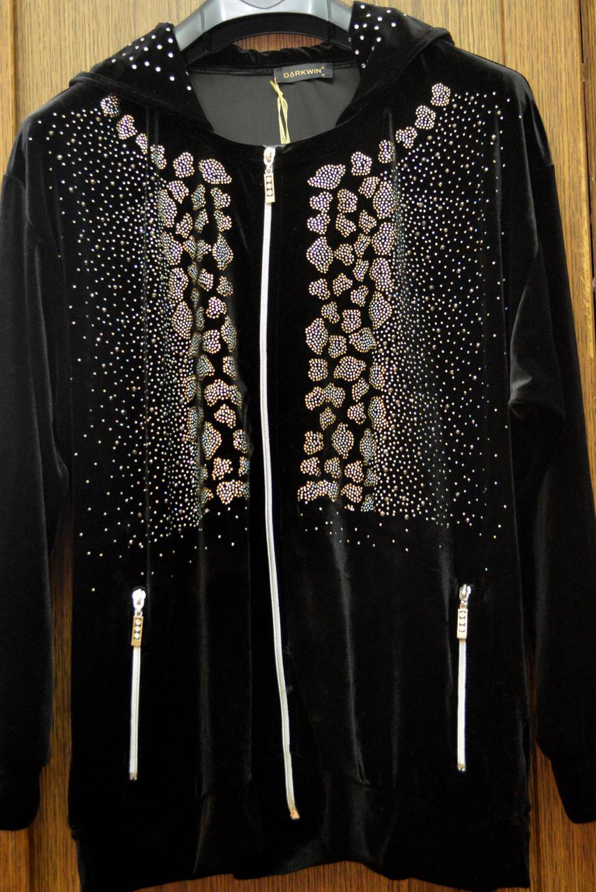 Велюровый брючный костюм (большой размер)