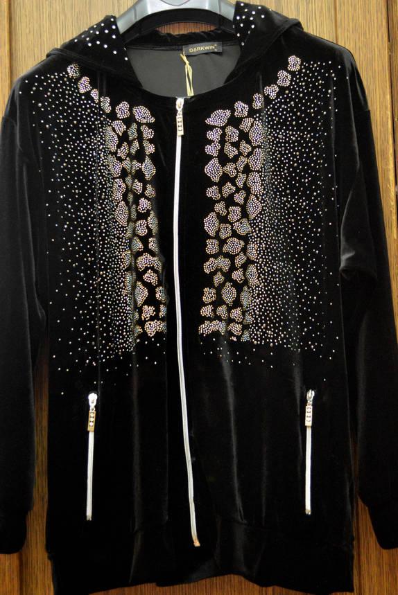 Велюровый брючный костюм (большой размер), фото 2