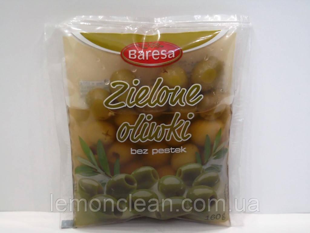 Оливки Baresa зеленые без косточки 160г (Польша)