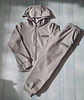 Спортивный костюм детский 6-10лет, светло-серый
