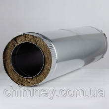 Дымоходная труба утепленная диаметром 100мм  толщина 0,5мм/430 цинк 0,7