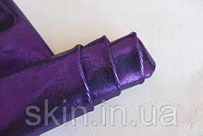 Велюр с покрытием фиолетового цвета, толщина 1 мм., артикул СК 2184, фото 2