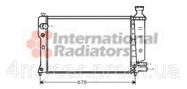радиатор peugeot 405 mt/at 87-92