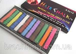 Мелки (пастель) для волос Hair Chalk 12 цветов