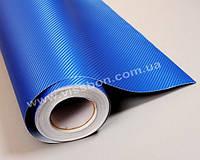 ПЛЕНКА ПОД КАРБОН 3D Catpiano синий металлик, 1.52м