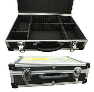 Ящик-кейс для инстр., с перегородками (425*285*12 мм) черный