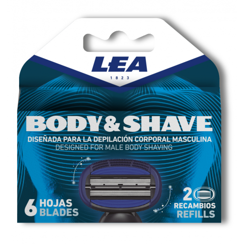 Сменные кассеты для бритвы LEA BODY & SHAVE System 2 шт.
