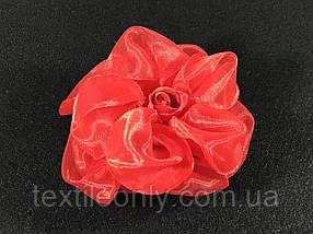 Троянди об'ємні червоні бутони для декору Сатин 70x30 мм