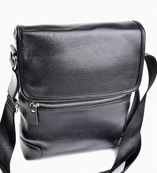 bd171e3723c7 Мужская кожаная сумка 98051 Black купить мужскую кожаную сумку - Интернет  магазин