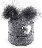 Оптом шапка детская с 52 по 58 размер ангора помпонами шапки детские головные уборы опт