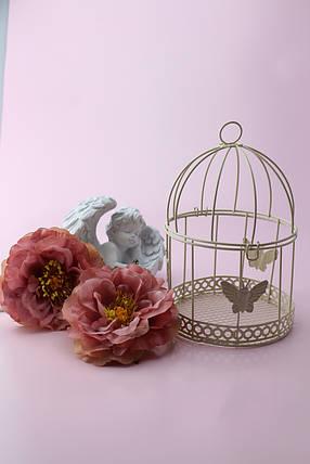 Декоративная клетка с бабочками, цвет айвори, фото 2