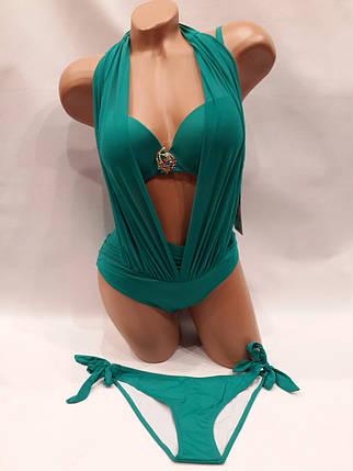 Купальник Интрига 31811 зеленый на  42 44 размеры., фото 2