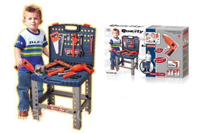 "Детский набор инструментов в чемодане ""Super Tool Quality"" 22 инструмента."
