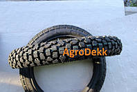 Резина на мотоцикл 3.00-18 шипованная + камера восьмислойная Код 555