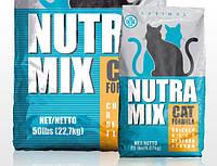 Nutra Mix Optimal корм для котов на основе куриного мяса,риса и морепродуктов 22,68кг