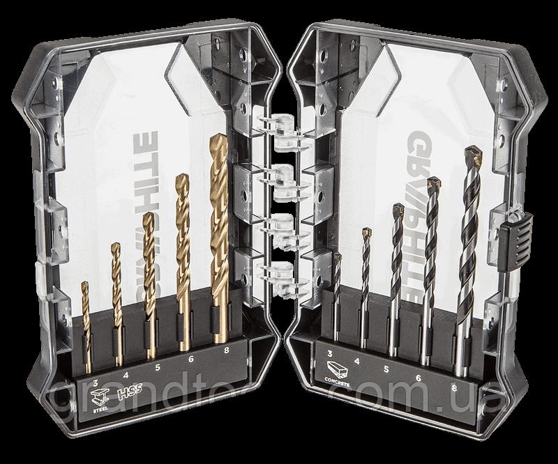 Комплект сверла GRAPHITE для металла и дерева 55H210