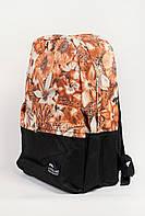 Рюкзак светлый с принтом 444KY006-3 (Бежево-черный)