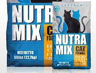 Nutra Mix Seafood корм для котов на основе мяса креветки,тунца,печени и рыбы 22,68кг