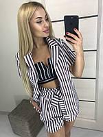 Женский стильный костюм-двойка (пиджак+шорты)