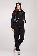 Женский спортивный костюм черного цвета.Размеры 48-56