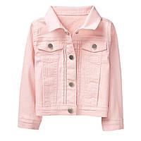 Детский джинсовый пиджак нежно-розового цвета для девочки