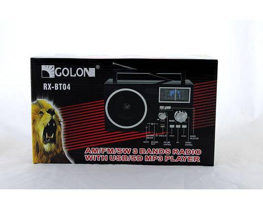 Радио портативное Golon RX BT04 переносная колонка bluetooth , фото 2