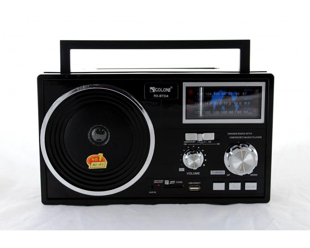 Радио портативное Golon RX BT04 переносная колонка bluetooth
