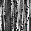 Шторы нити кисея  Жемчуг (Черный)