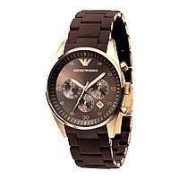 Наручные часы Emporio Armani   мужские часы   Стильные часы Эмпорио Армани  Коричневый, часы мужские ae948be7e8a
