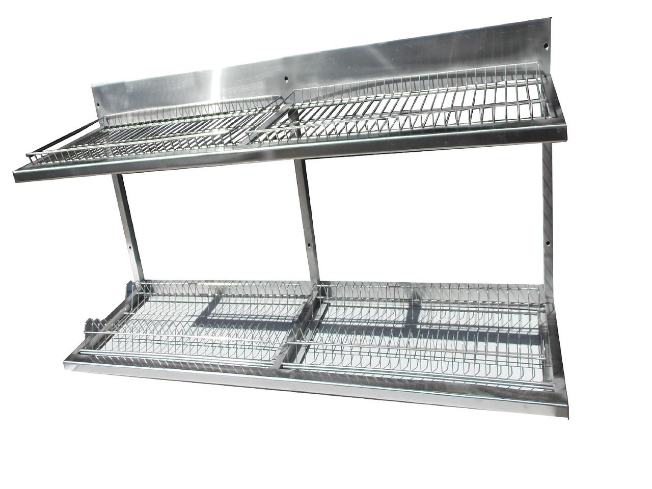 Полка-сушка для посуды 1200х325х510 ( поддон нерж)
