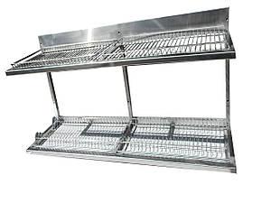 Полиця-сушка для посуду 1200х325х510 ( пластиковий піддон)