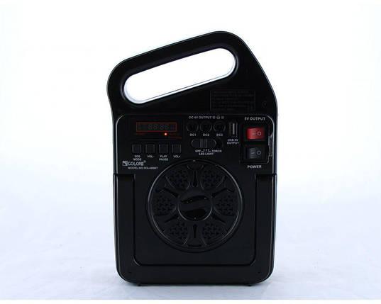 Радио GOLON RX 499BT с солнечной зарядкой / MP3 / Bluetooth / фонарь / TF slot и USB разъем, фото 2