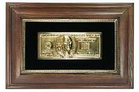 Картина деньги — $100 в золоте, панно, фото 1