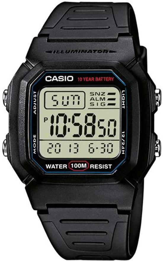Часы наручные CASIO  W-800H-1AVEF