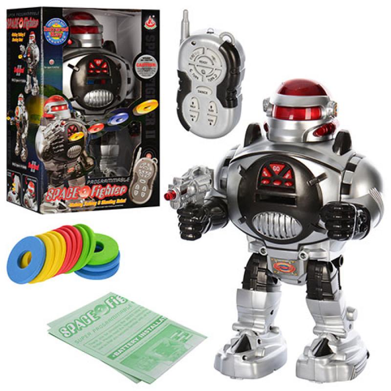 Робот Космический Воин со световыми эффектами на радиоуправлении, стреляет дисками, 28083