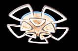 Красивая потолочная люстра с пультом диммером, фото 3