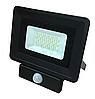 Светодиодный прожектор 30Вт с датчиком SMD-30-Slim  Black Sensor