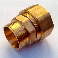 Зажимная латунная муфта Ду25мм НР, фото 1