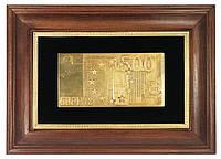 Объемная картина панно 500 евро в золоте., фото 1