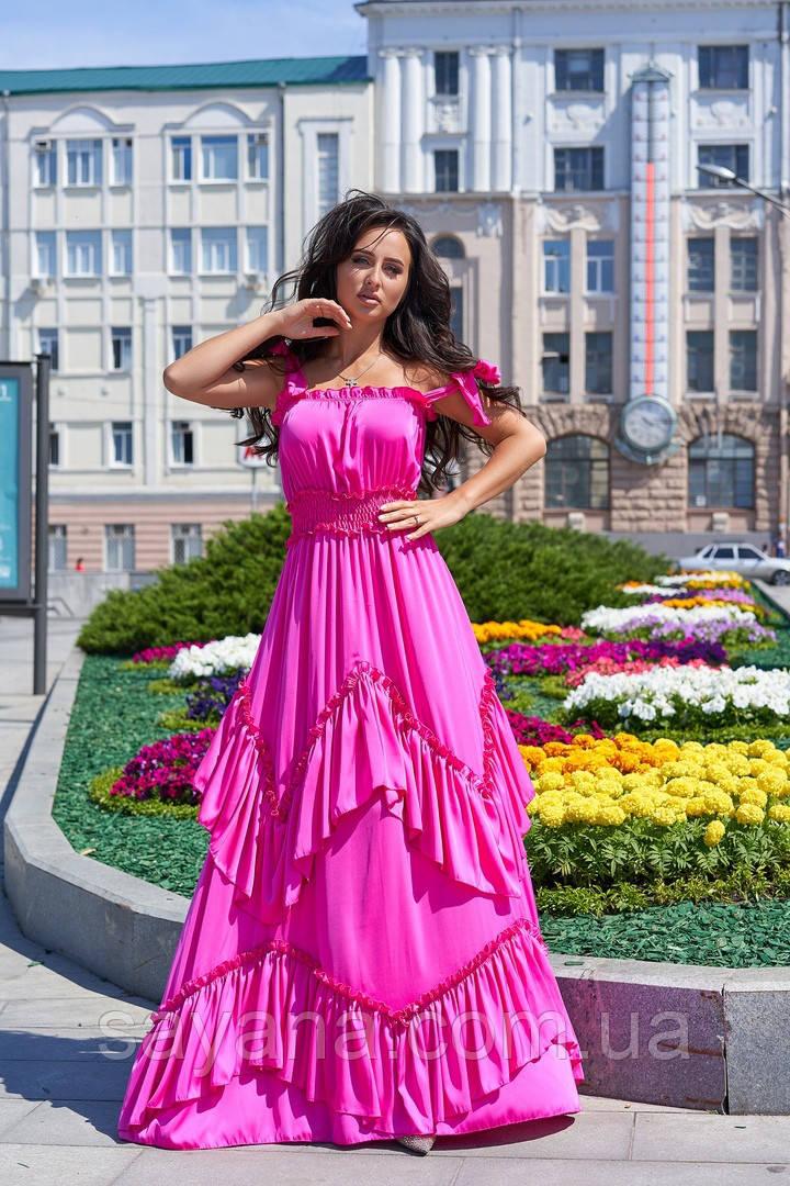 Женское пышное платье в пол, в расцветках. А-5-0618