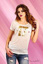 Женская молодежная футболка больших размеров (1229 svt), фото 3