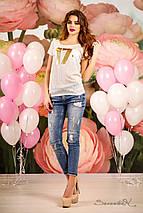 Женская молодежная футболка больших размеров (1229 svt), фото 2