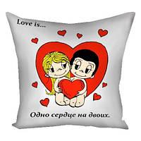 Подушка декоративная LOVE IS 40х40 см