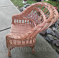 Дитяче плетене крісло коричневе не висока